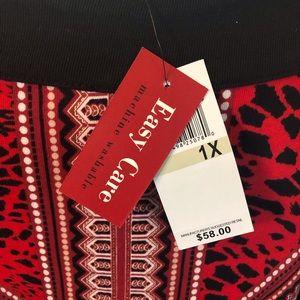 Rafaella Tops - Rafaela Studio Red &Black Blouse Size 1X